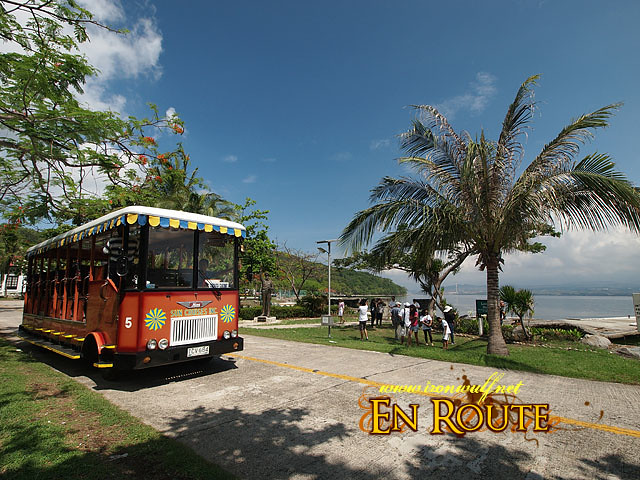 Tranvias are used for tours around the island