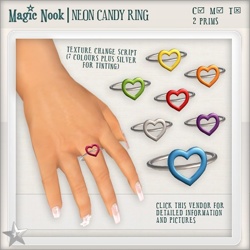 [MAGIC NOOK] Neon Candy Ring