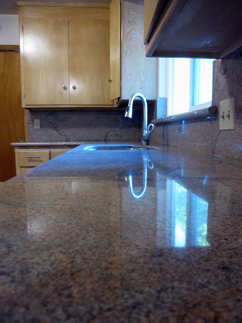 new countertop and faucet