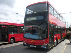 Go Ahead London Volvo B9TL MCV VM1 BJ11 XGZ at Silvertown Garage (Mr Metroline) Tags: bus london ahead general garage go silvertown mcv d103 b9tl dd103 d103le