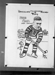 Vancouver (Millionaires) Hockey Team, Vancouver Hockey Club [copy of photo/caricature of Lloyd Cook]