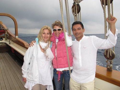 con los padres de Victoria Ivaylova