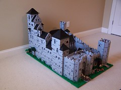 Letholdus Castle (Tastymuffins) Tags: castle window glass lego towers stained huge knight realistic gatehouse