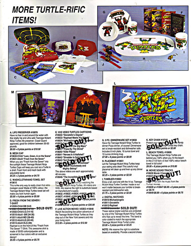 TEENAGE MUTANT NINJA TURTLES :: The Pizza Point Collector's Catalog { Full Colour Edition } pg. 3 (( 199x ))