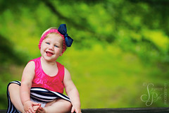 Sweet Sadie (Suzanne Pyle Photography) Tags: portrait girl smile june children happy child sister blueeyes adorable hairbow suzannepyle suzannepylephotography