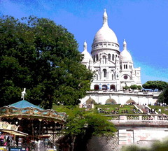 Looking Up at Montmartre (Posterized) by randubnick