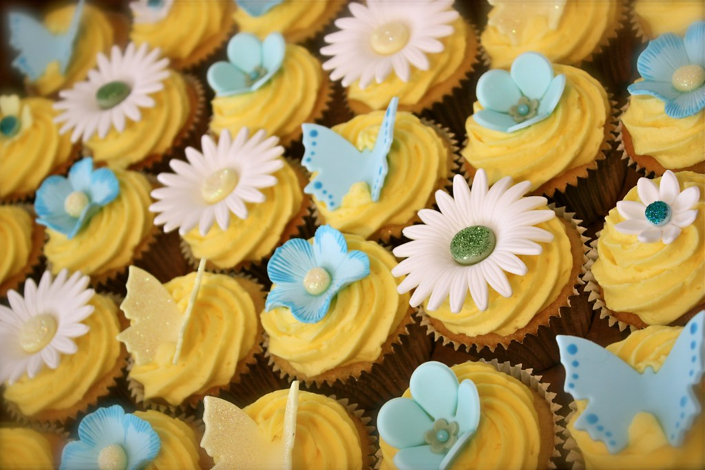 Lemon 80th Birthday Cupcakes