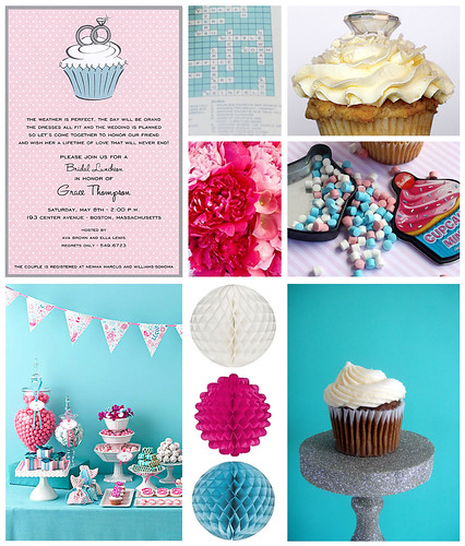 Invitation Inspiration - Aqua and Pink
