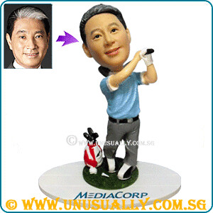 Personalized 3D Mediacorp Lucas Chow Golfer Figurine