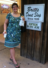 LisaDiane at Britts Donut Shop at Carolina Beach