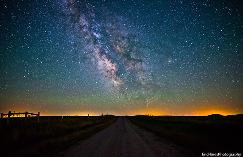 Wyoming Dirt Road Milky Way by Eric Hines Photography