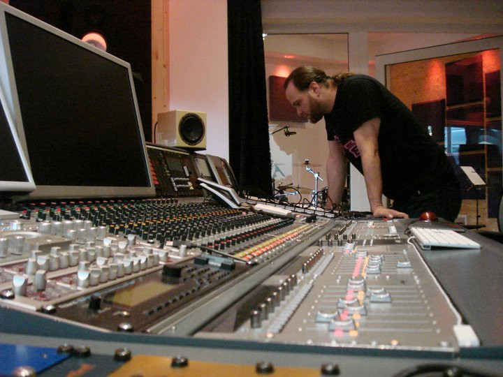 Stefan Rossi checking the recording session (Naked Truth Pictures) Tags:  austria band emi