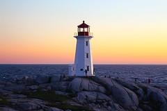 Ombre Sky (laurakirkpatrick) Tags: lighthouse novascotia peggyscove ns canon sunset ombre sky rocks horizon nature outdoor landscape canada ngc