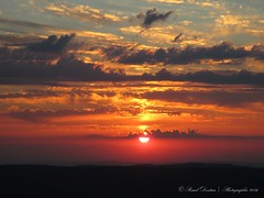 Sunset at the top of the Mt-Tendre, Switzerland (Pascal Dentan) Tags: summit sunset mountain sun cloud color orange night beautiful haveaniceday mont tendre switzerland schweiz suisse montagne camping top jura la valle valley joux point topographique couchant extrieur ciel nuageux