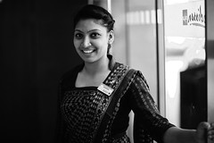 WELCOME to the BLU (N A Y E E M) Tags: nadira young lady concierge portrait entrance hotel radissonblu friday afternoon chittagong bangladesh smile