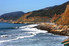 Malibu, California Coast along PCH (VVTECRACING) Tags: ocean california usa canon los highway unitedstates angeles malibu pacificocean coastline mountans canon1dsmarkiii