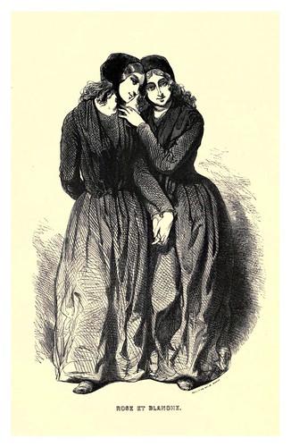 003-Rosa y Blanca-Le juif errant 1845- Eugene Sue-ilustraciones de Paul Gavarni