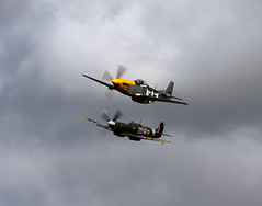 Airpower Over Goodwood (Explored) (autoidiodyssey) Tags: wwii ww2 spitfire mustang p51 2010goodwoodrevival