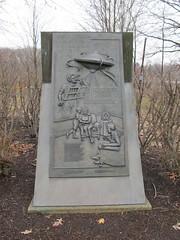 Martian Landing monument (mts83) Tags: monument broadcast weird newjersey alien 1938 spaceship invasion martian mercercounty westwindsor orsonwells groversmill martianlanding martianlandingsite vannestpark