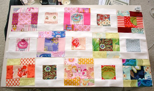 Altered Four Square Quilt Blocks - Laid Out