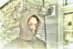 Scary Guy (JeezyDeezy) Tags: portrait texture hood slate hdr photomatix 3652011 week12theme