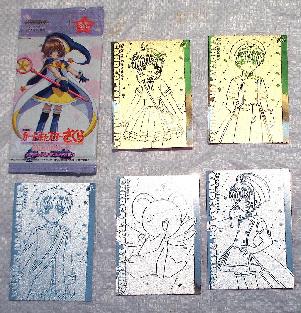 CARDCAPTOR SAKURA Gold & Silver Japanese Cards