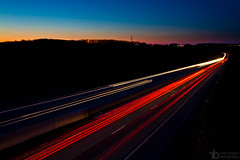 86/365 (Ryne Bogart) Tags: road light sunset 3 cars night canon project eos highway long exposure trails vehicles 7d interstate 365 1785mm lightroom project365