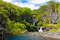 Seven Sacred Pools (Ryan Leemhuis Photography) Tags: ocean road tree water hawaii waterfall highway pacific maui palm hana seven pools sevensacredpools waterfalls sacred hawaiiphotography