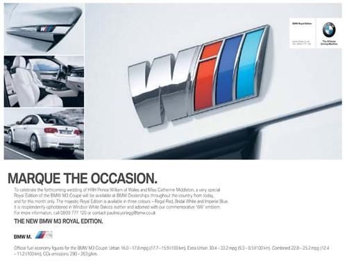 BMW April Fools 2011 Royal Edition Marque