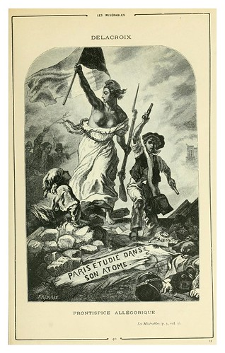 003-Los miserables-Frontispicio-Cent dessins  extraits des oeuvres de Victor Hugo  album specimen (1800)