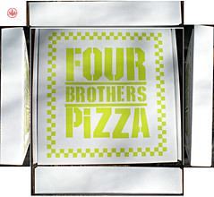 "Nickelodeon TMNT Fan Preview; ""FOUR BROTHERS PIZZA"" - Consolation Pizza Box iii (( 2011 ))"
