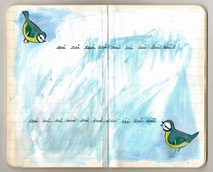 Duet - Duo - Deuawd (Valériane Leblond) Tags: bird art oiseau bluetit aderyn cuicui mésangebleue valérianeleblond titwstomoslas
