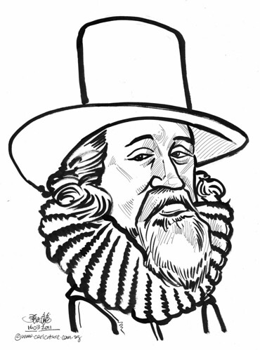 Caricature of Bacon
