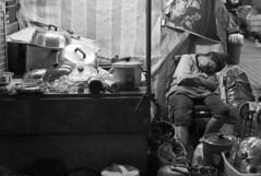 Was she simply tired or, despair?? (van*yuen) Tags: blackandwhite bw hongkong documentary summilux ssp 5014 m82 citysnap leicam82 summiluxiim5014