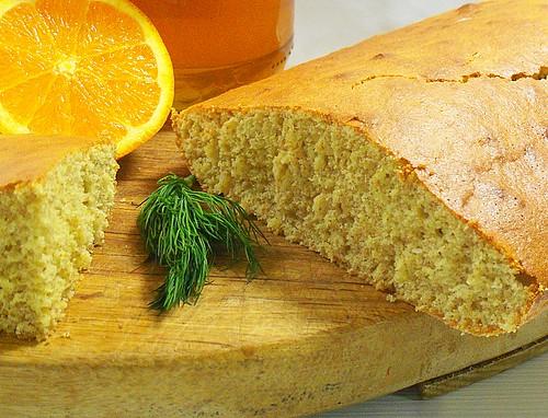 Torta integrale al finocchietto con miele ed arancia