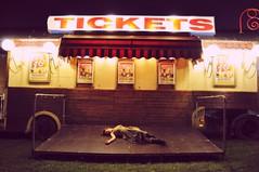 (Rosa sings the blues) Tags: portrait girl night self tickets lights nikon circus caravan d5000