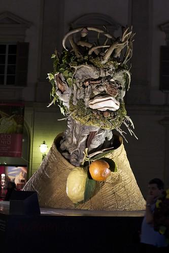 Philip Haas's Archimboldo Statue in Milan, Italy