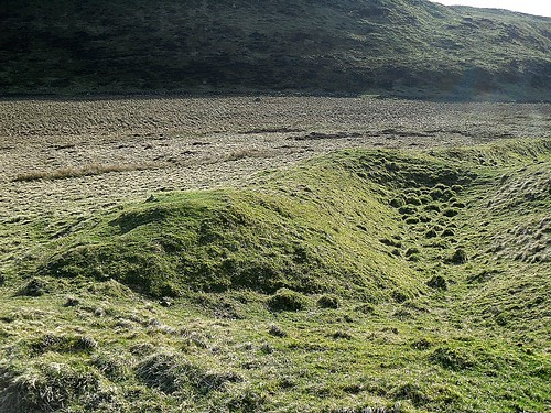 Maiden Castle entrance