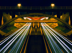 Southbound (Paul O' Connell) Tags: southbound traffic motorway highway m50 ireland dublin longexposure urban aerial city maze lights view canon5d 5d architecture road beams stereo double inbound south doubletake transform speedoflight lines curves canon photography irishphotographer pauloconnell gettyimages