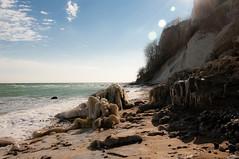 Ice (Vismar R) Tags: sea gelo praia beach strand denmark island baltic cliffs mons dinamarca klint moens friodinamarca