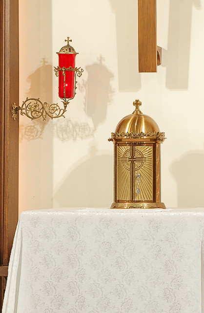 Saint Nicholas Roman Catholic Church, in Pocahontas, Illinois, USA - tabernacle