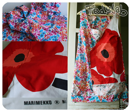 Marimekko + cotton flowers = new dress