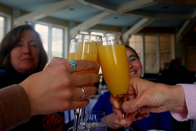 toasting at brunch