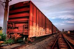 Boxcars (eraut) Tags: railroad train graffiti dallas traintracks boxcar businesstrip dallastx sketchbookpro mysteriouslight exiflost tamron1750f28 eos400d canondigitalrebelxti processedontheipad processedonanipad ipadographers dynalighthd