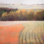 """<b>Bean Field at Sunset</b><br/> Maakestad (LC '80) (oil paint on linen, 2011)<a href=""""http://farm6.static.flickr.com/5146/5636102098_0863bd9805_o.jpg"""" title=""""High res"""">∝</a>"""