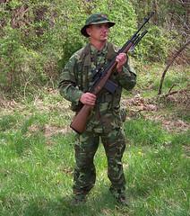 100_4317 (cowboy chris bbq) Tags: cute sexy hat usmc model marine gun photoshoot calendar boots modeling military rifle models columbia camo mo cap cover missouri blonde posters casual camoflage m14 booniehat cowboychrisbbq