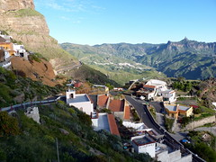Gran Canaria - Artenara with Roque Nublo in the Horizon