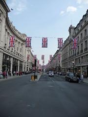 Regent Street, London - Royal Wedding decorations (johnscale) Tags: london regentstreet unionjack royalwedding