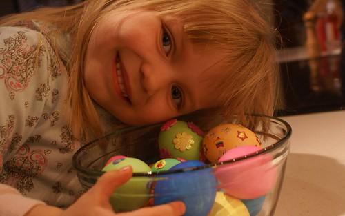 Lovin' her eggs :-)