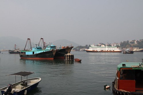 "New World First Ferry's ""Xin Guang"" departs Cheung Chau"